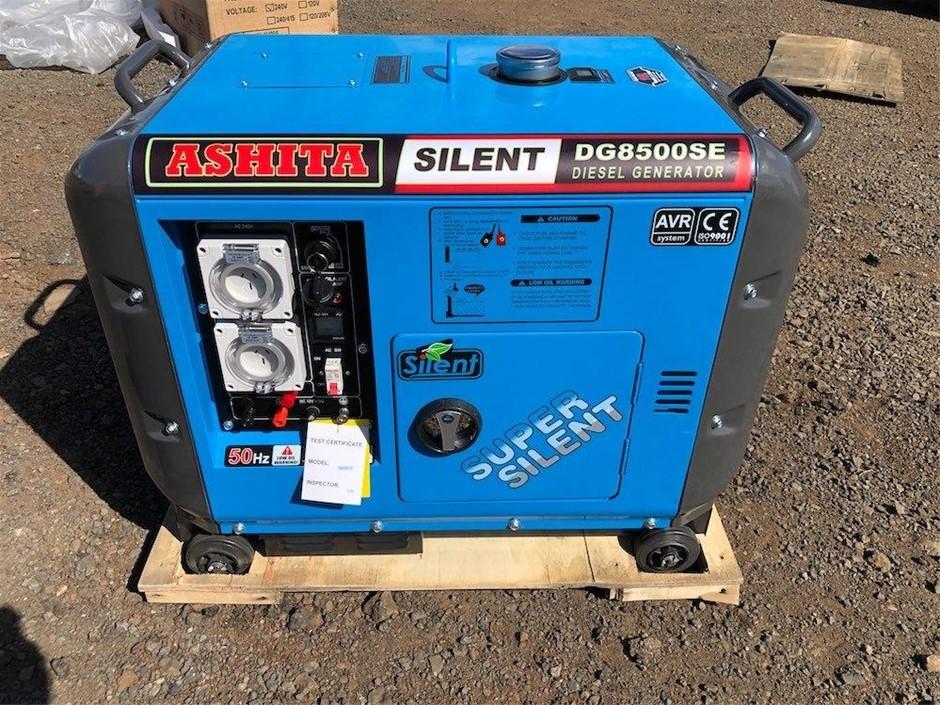 Unused Ashita Silenced 6Kw Diesel Generator