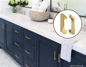 15x Brushed Brass Drawer Pulls Kitchen C