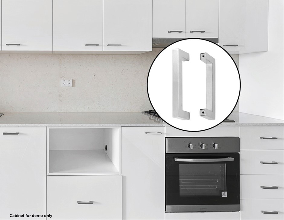 Brushed Nickel Stainless Steel Kitchen Cabinet Square Drawer Pull 15-Pack