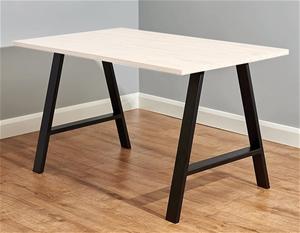 2x Rustic Dining Table Legs Steel Indust