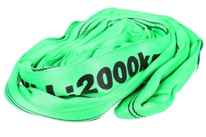 2 x Round Lifting Slings, WLL 2000kg x 2