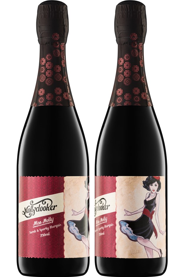 Mollydooker Miss Molly Sparkling Shiraz 2017 (6x 750mL), SA. Plastic Cork.