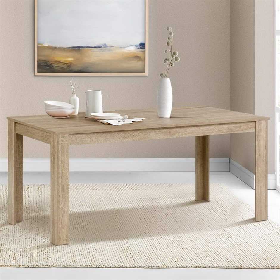 Artiss Dining Table 6-8 Seater Wooden Kitchen Tables Oak 160cm Café
