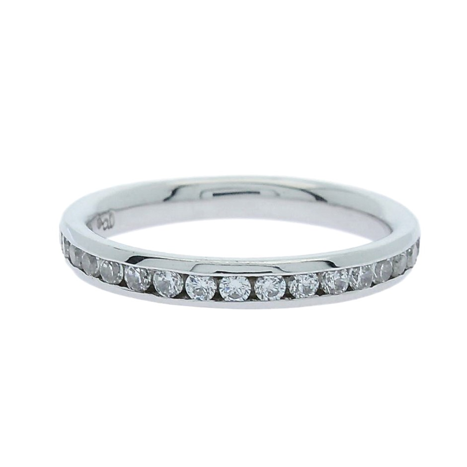 0.40 Carat Sterling Silver matching channel set band