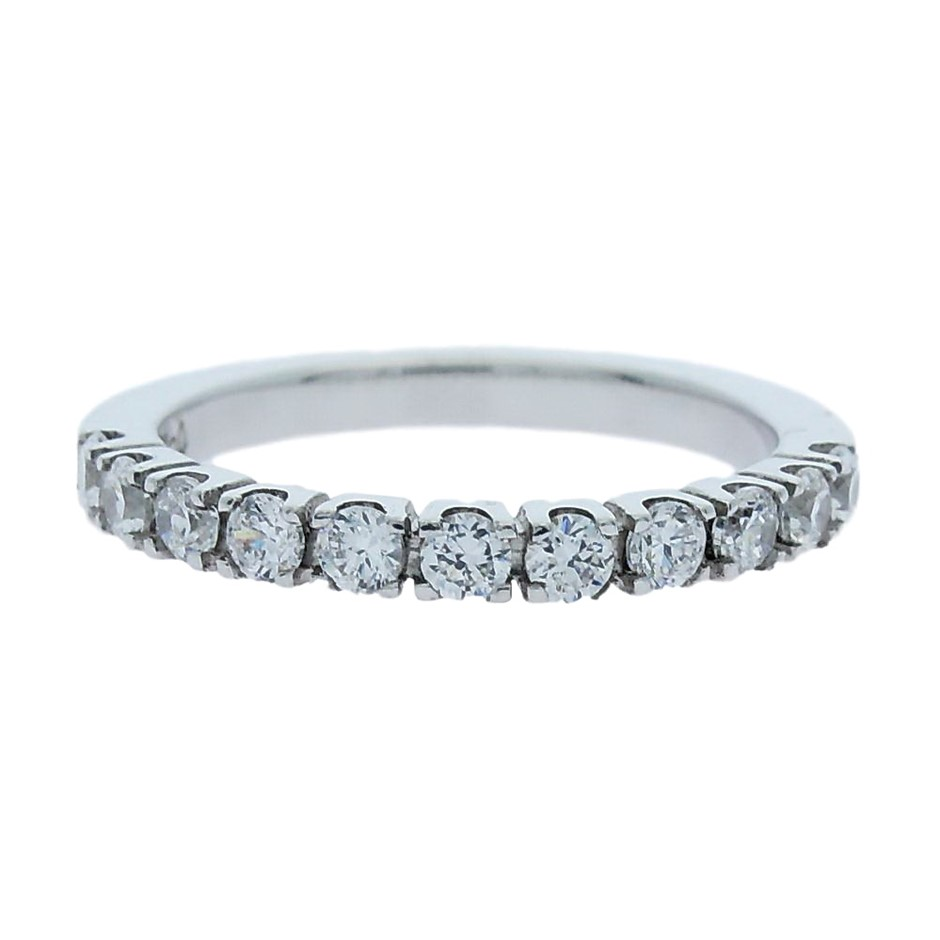 0.50 Carat Sterling Silver claw set band