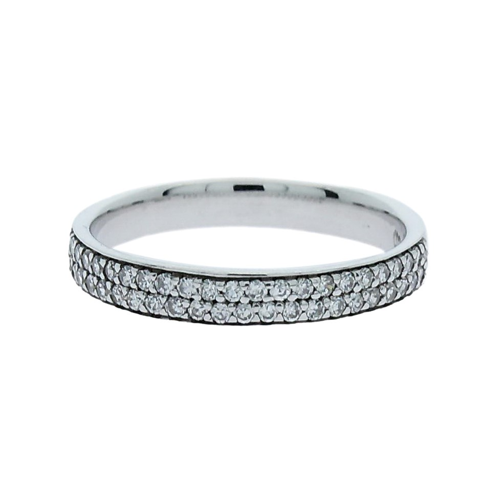 0.27 Carat Sterling Silver matching band