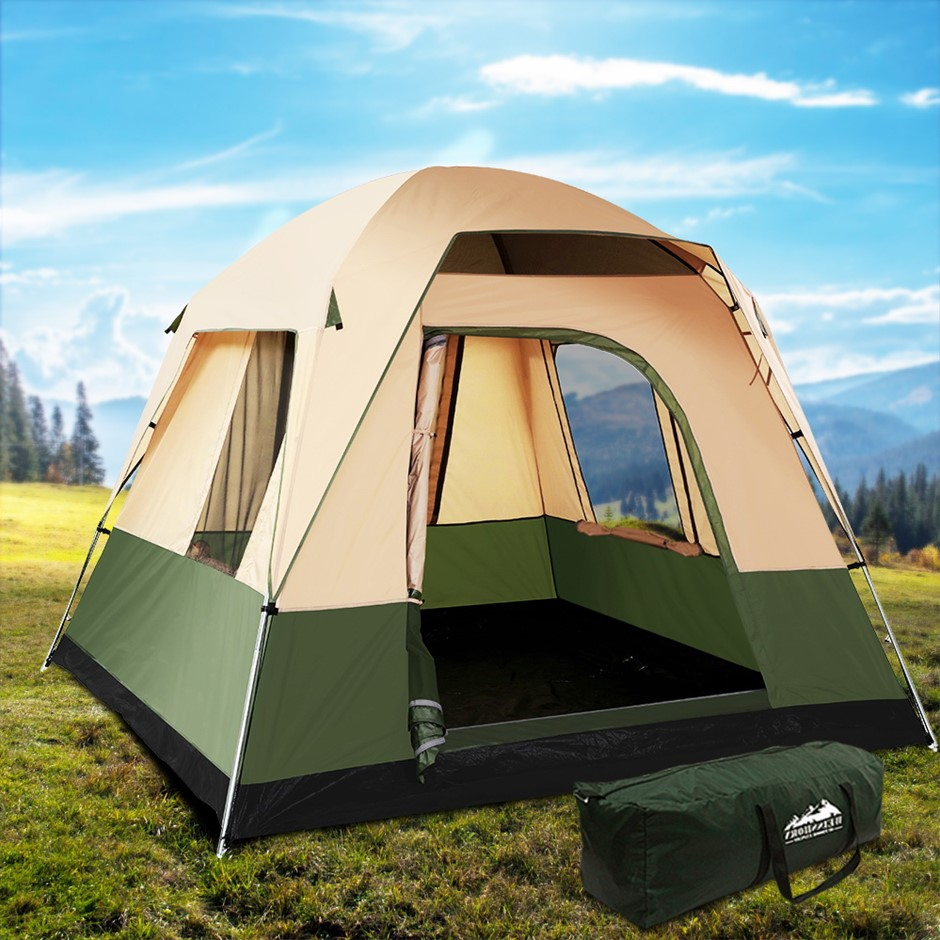 Weisshorn Family Camping Tent 4 Person Hiking Beach Tents Canvas Ripstop