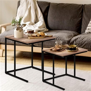 Artiss Coffee Table Nesting Side Tables