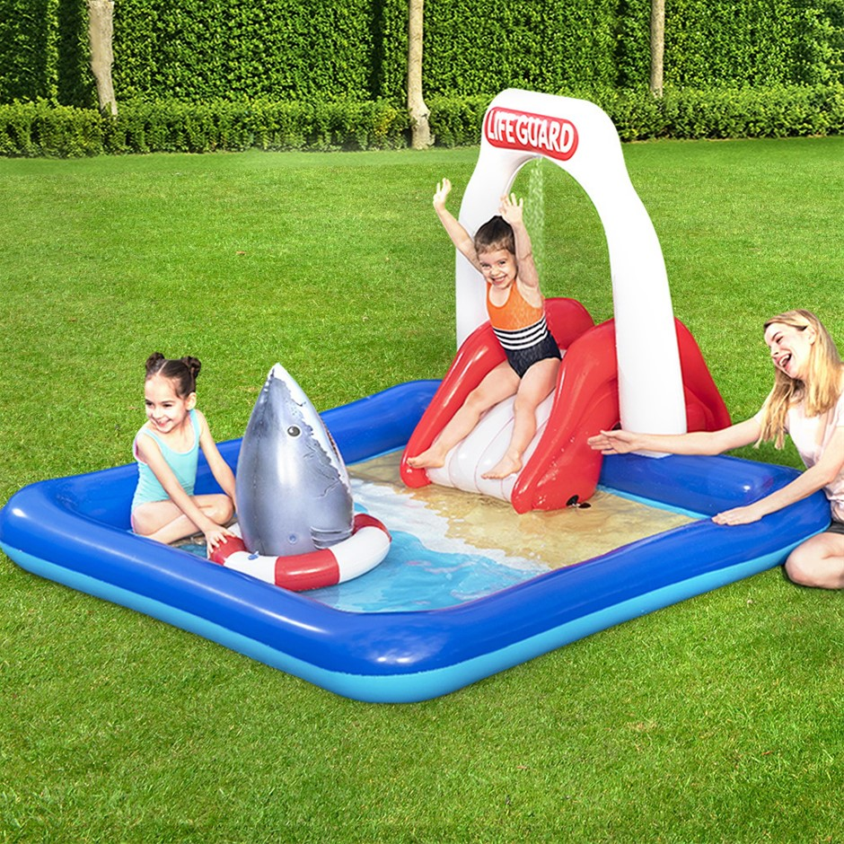 Bestway Swimming Pool Above Ground Kids Pools Lifeguard Slide Inflatable