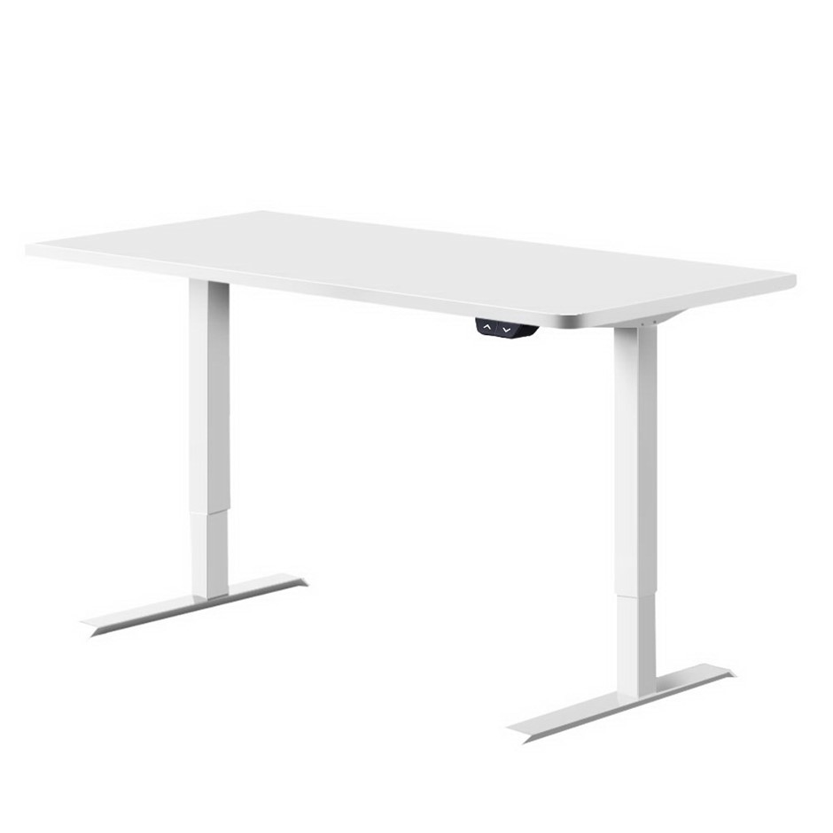 Artiss Roskos I Motorised Height Adjustable Standing Desk Laptop White