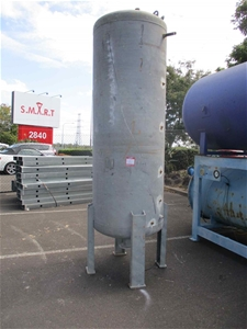 Upright Air Tank on Stands