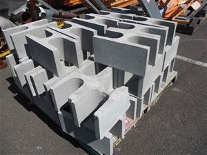 "39 x Concrete ""H"" Blocks"
