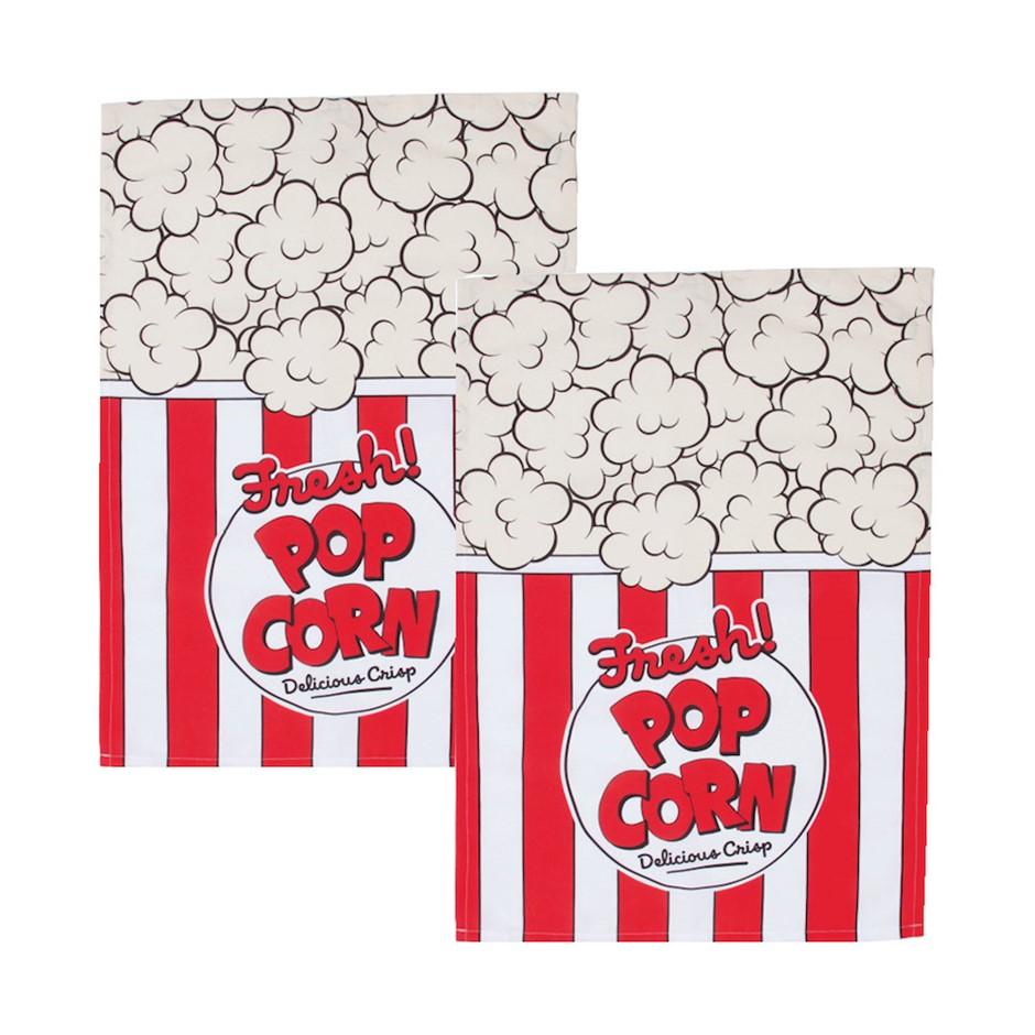 Woouf Kitchen Tea Towel Popcorn - 2pk