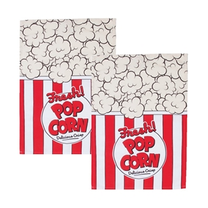Woouf Kitchen Tea Towel Popcorn - 2pk
