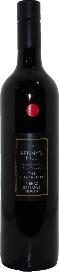 Penny's Hill The Specialised Shiraz Cabernet Merlot 2014 (6x 750mL), SA