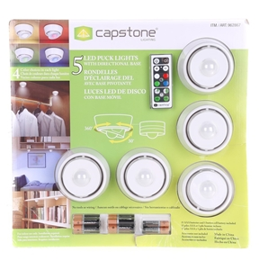 CAPSTONE LIGHTING 5 LED Puck Lights with