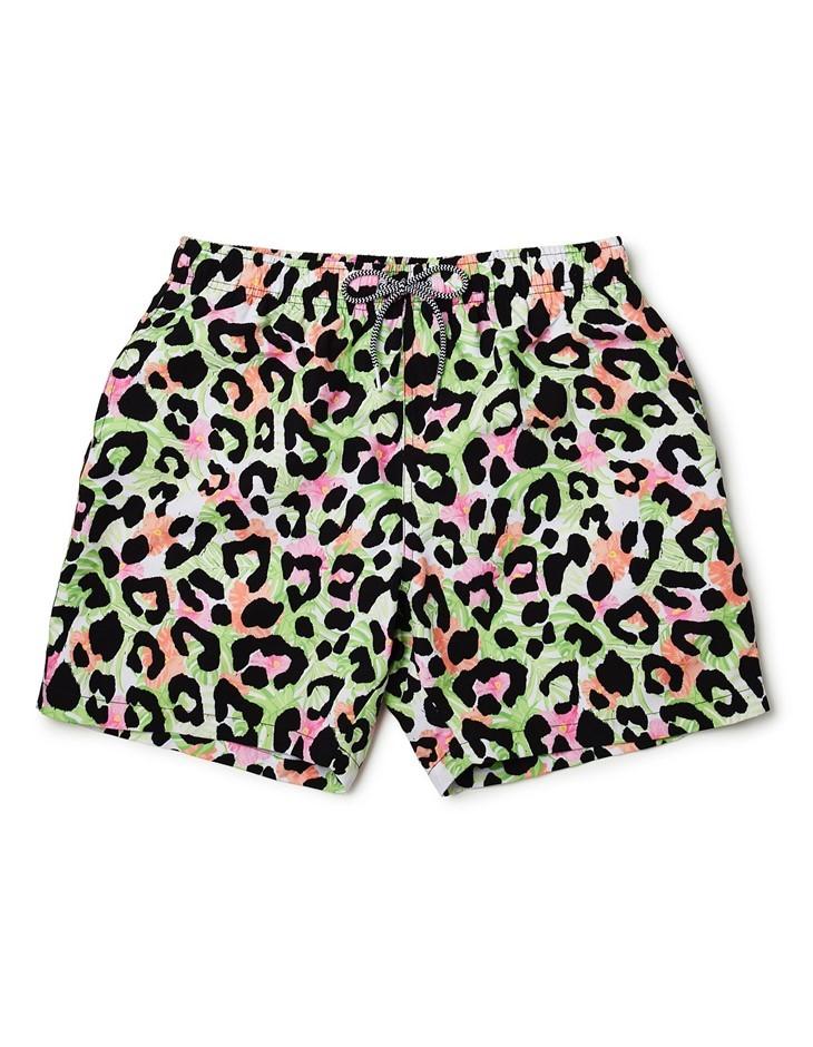 BOARDIES APPAREL Boardies Cheetah Swim Shorts. Size L, Colour: Multi. 100%