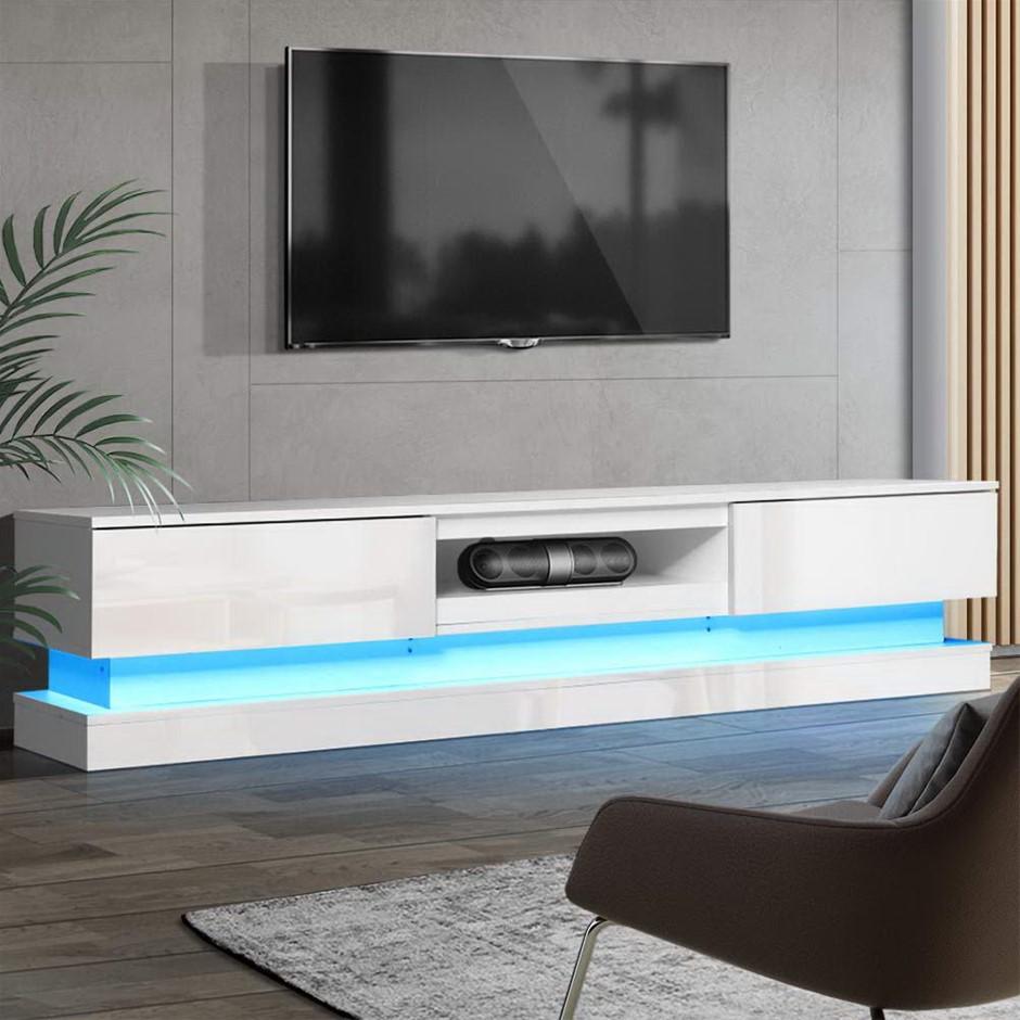 Artiss TV Cabinet Entertainment Unit Stand Storage RGB LED 180cm