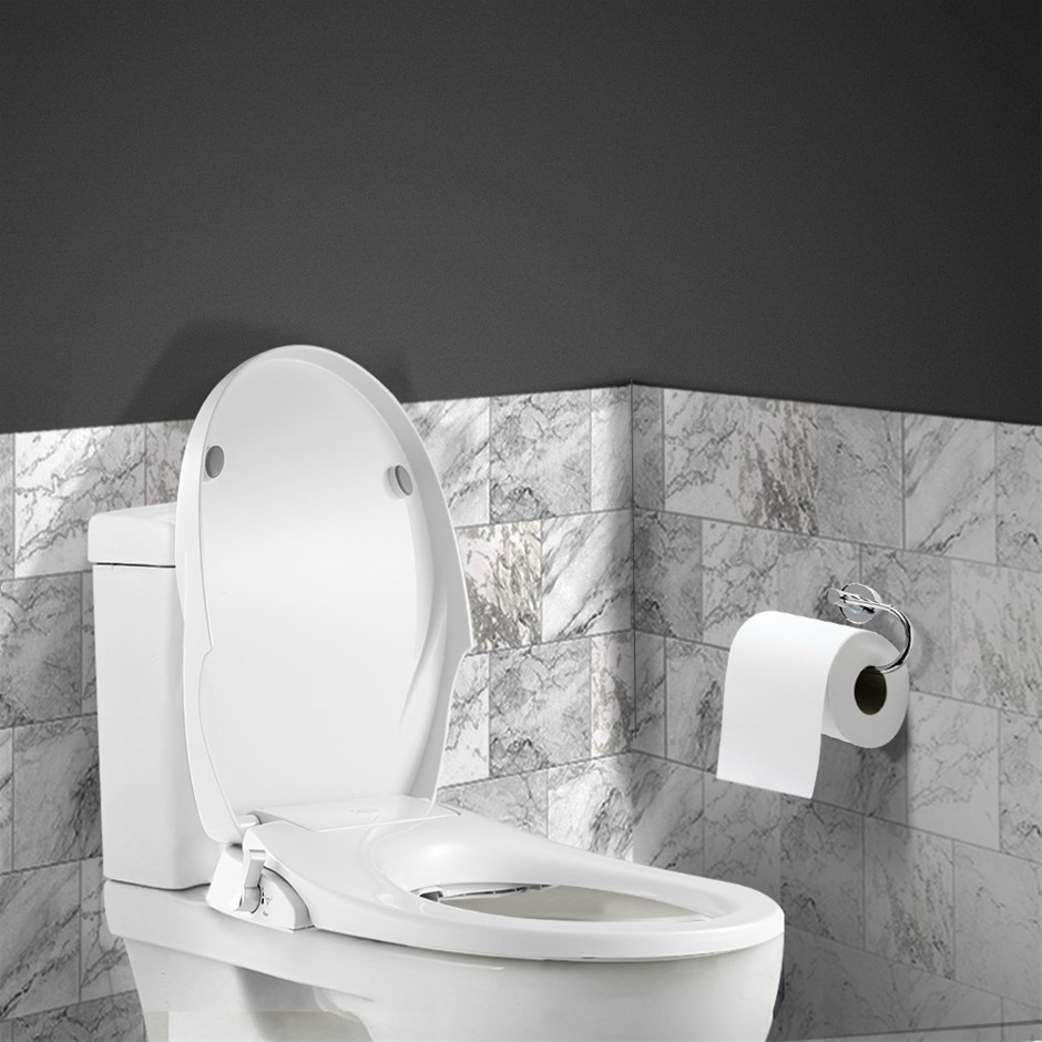 Toilet Bidet Seat Non Electric Hygiene Dual Nozzles Spray Wash Bathroom