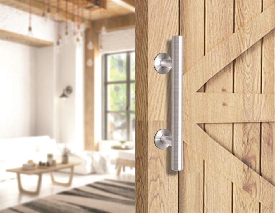 """12"""" Barn Door Handle Sliding Flush Pull Door Gate Hardware Stainless Steel"""