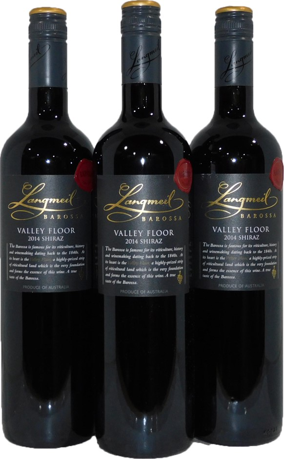 Langmeil Valley Floor Barossa Shiraz 2014 (3x 750mL), SA