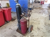 Oxy Acetylene Trolley with Hoses, Regulators, Hand Pieces