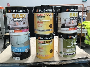 Qty 6 x 10L Assorted Paint