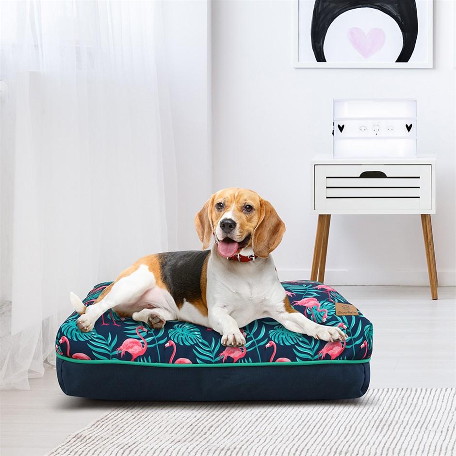 Charlie's Rectangular Funk Pet Bed Pad- Pink Flamingoes Small