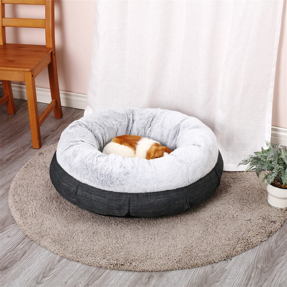 Charlie's Winter Short Plush Round Bed Non Slip Bottom SIZE M 76.5*76.5*25