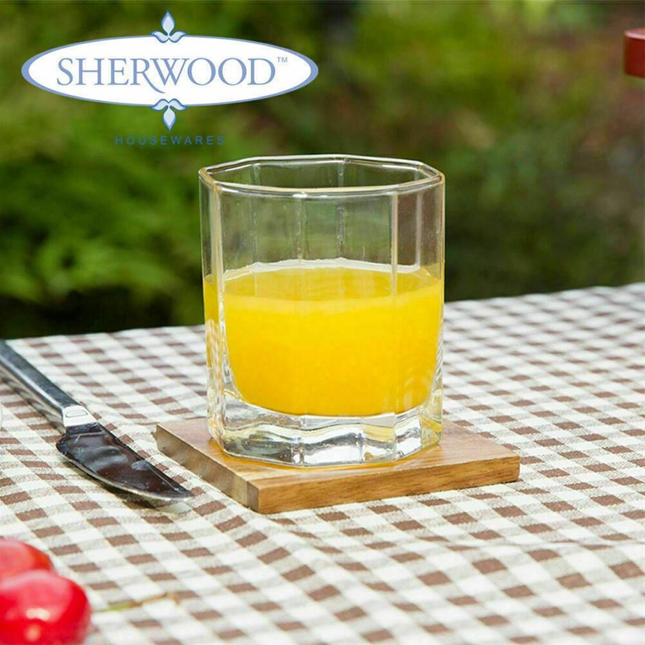 Sherwood Natural Acacia 7 Piece Coaster Set