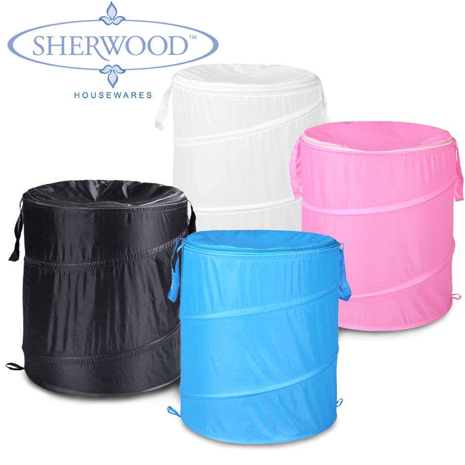 Sherwood 4 Pcs Pop Up Laundry Hamper Set - 4 Colours