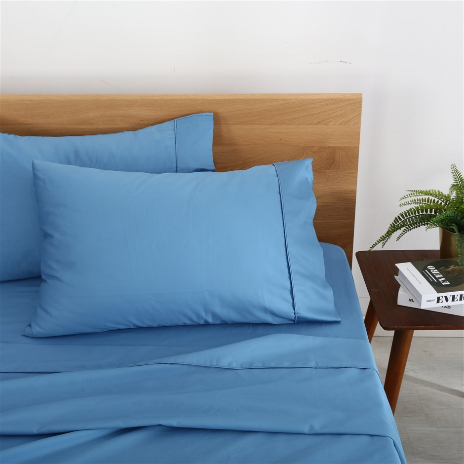 Natural Home Organic Cotton Sheet Set Single Bed NIAGARA