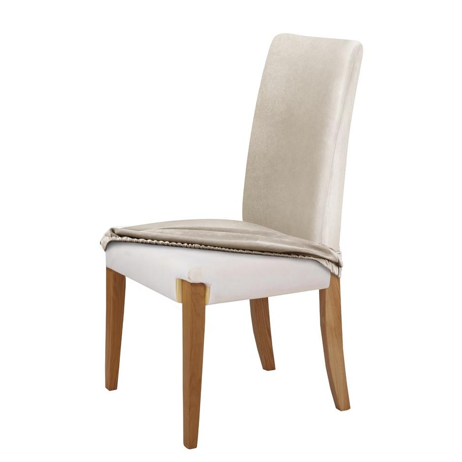 Sherwood Premium Faux Suede CREAM Dining Chair