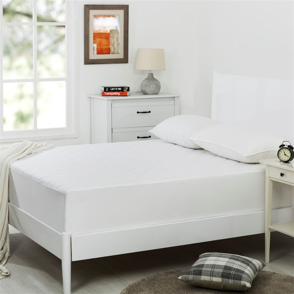 Dreamaker Quilted Cotton Cover Mattress Protector King Single Bed
