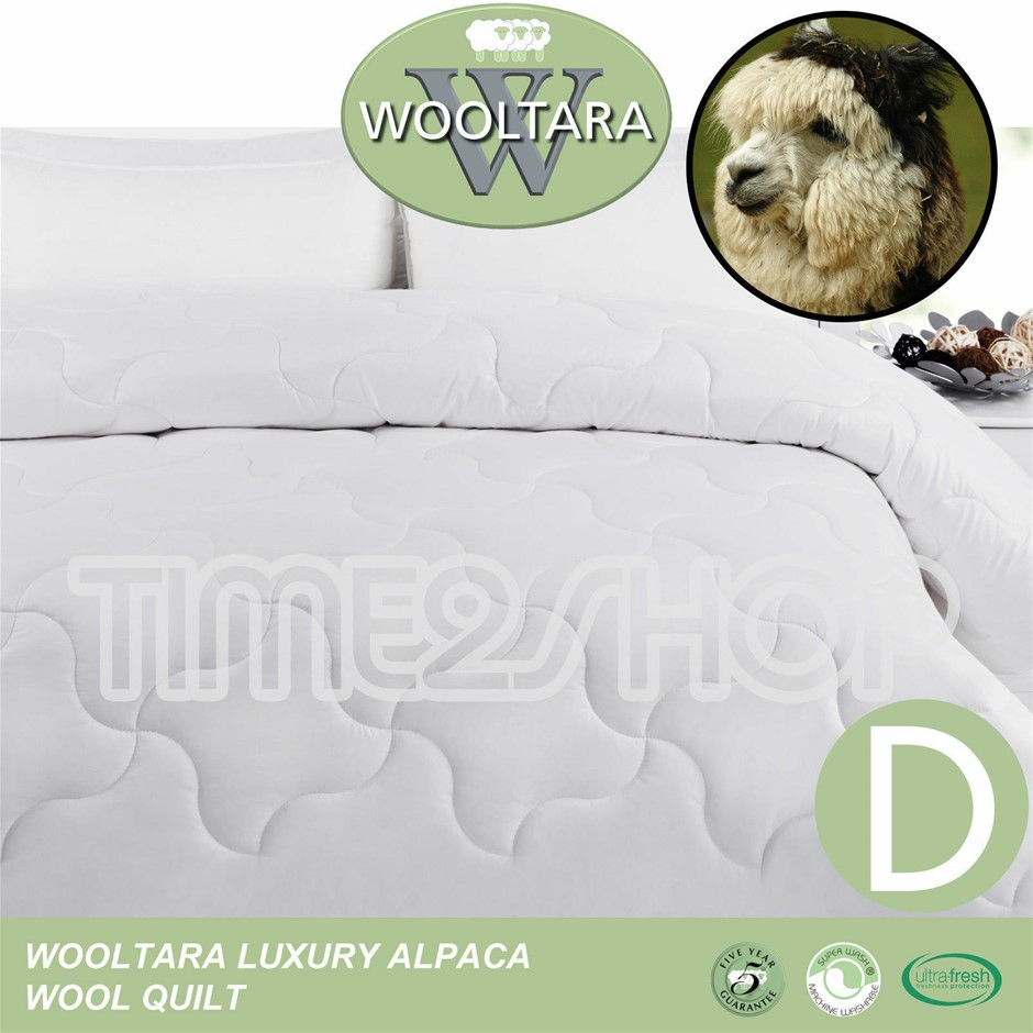 Wooltara Imperial Luxury 450GSM Washable Winter Blend Wool Quilt Double Bed