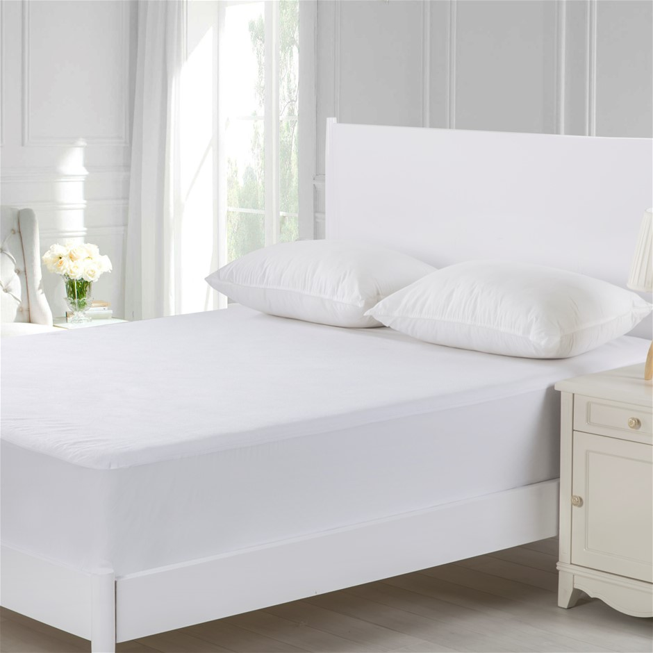 Dreamaker Cotton Terry Towelling Waterproof Mattress Protector Super King