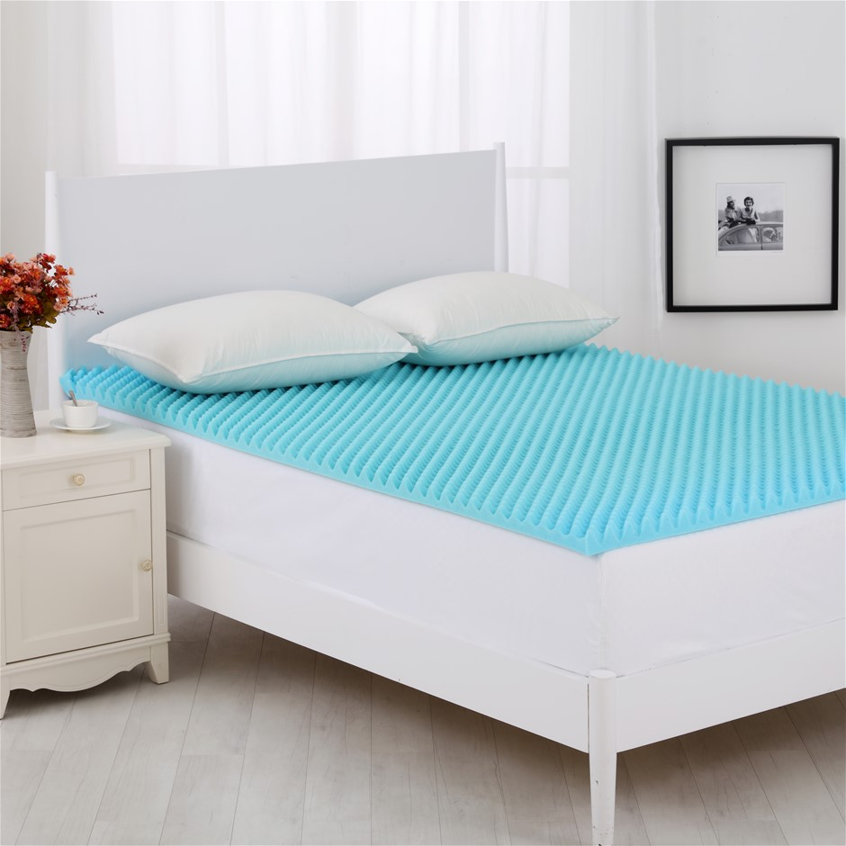 Dreamaker Gel Infused Convoluted Memory Foam Underlay Queen Bed