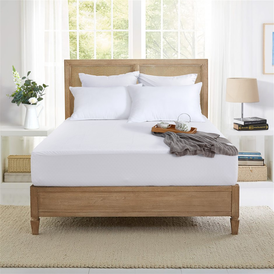 Dreamaker Bamboo Terry waterproof mattress protector Super King Bed