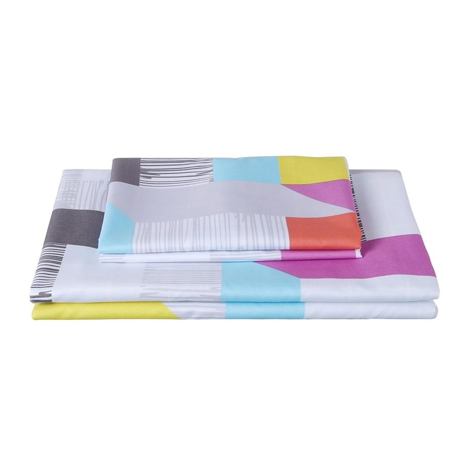 Dreamaker Printed Microfibre Quilt Cover Set Single Bed Milton