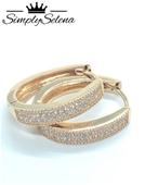 18k Gold Plated Hoop Earrings by SimplySelena