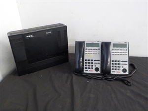 NEC SL1100 Phone System and Handsets