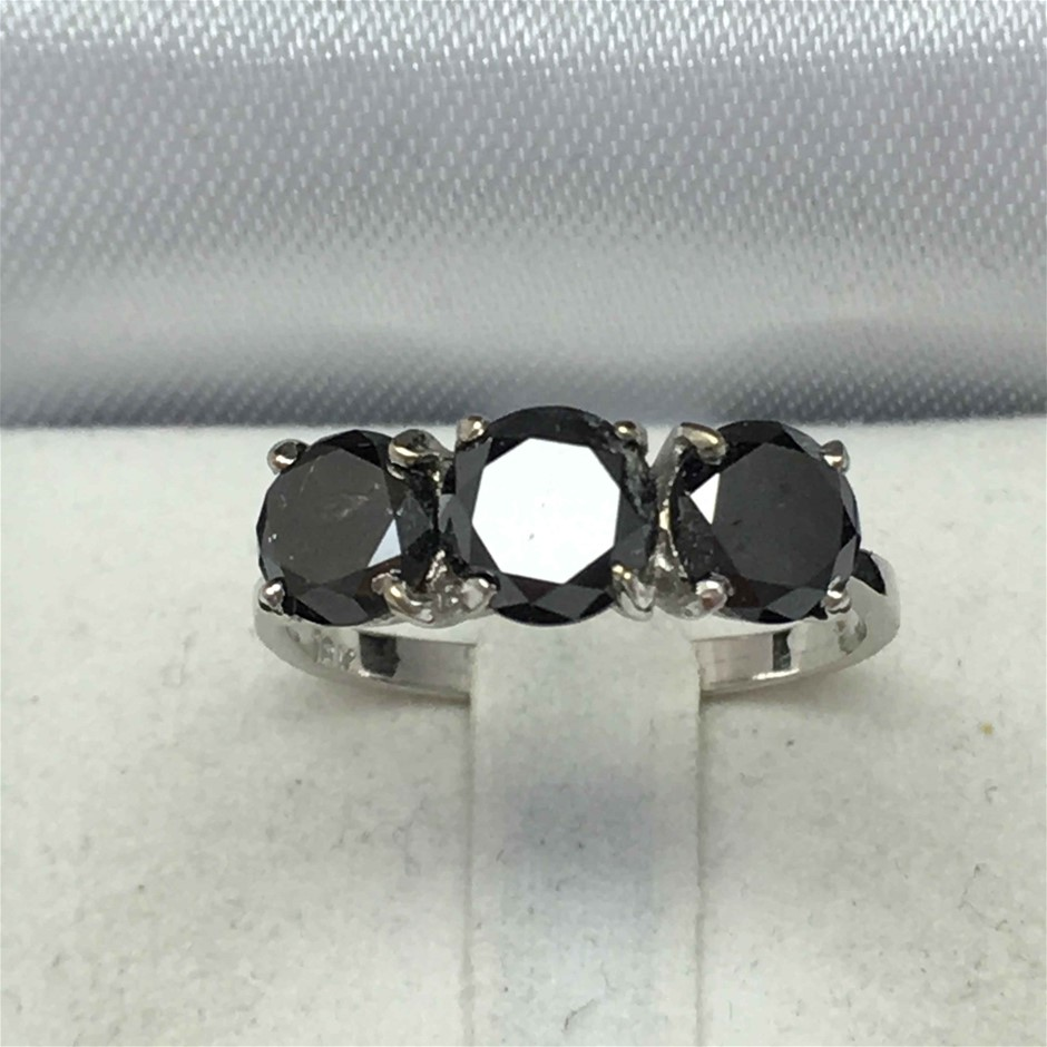 18ct White Gold, 3.16ct Diamond Ring