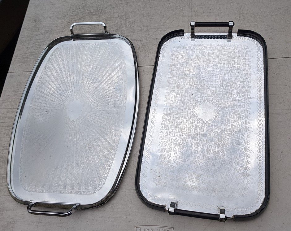 Pair Vintage Australian Serving Trays - DELIVERY AVAILABLE