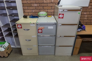 3x Steel Filing Cabinets