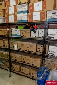 6x Assorted Adjustable Shelving Unit