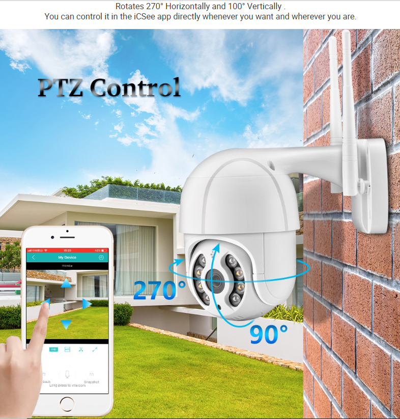 2MP 1080P Waterproof Human Motion Detection IP CCTV Wireless