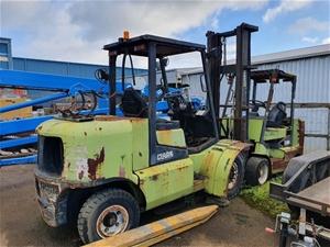 2 x Clark Forklifts Inc CGP50 5 Tonne Fo