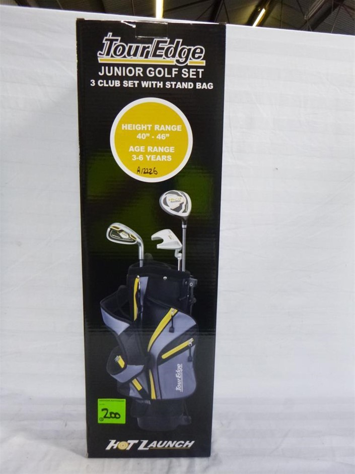 1 x Hot Launch Tour Edge Junior Golf Set 3 Club Set with Stand Bag