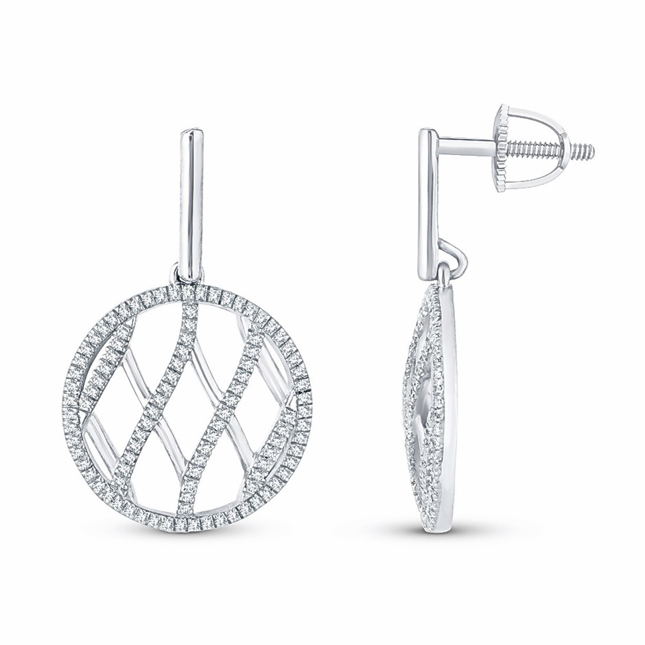 9ct White Gold, 0.28ct Diamond Earring