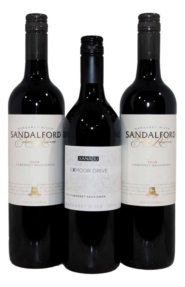 Mixed Pack of Cabernet Sauvignon (3x 750mL), Margaret River, WA